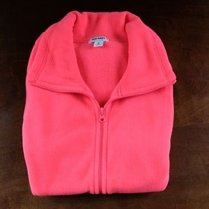 Old Navy Bright Pink Fleece Vest (Medium)